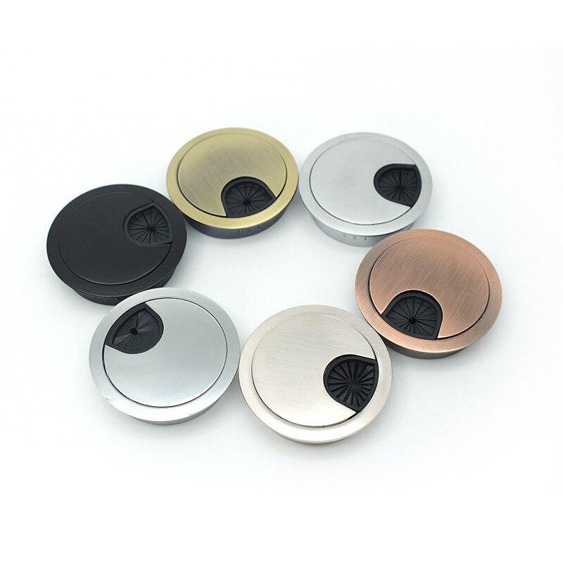 Zinc Alloy Wire Hole Cover Desk Cable Grommet Outlet Round Port Holes Box
