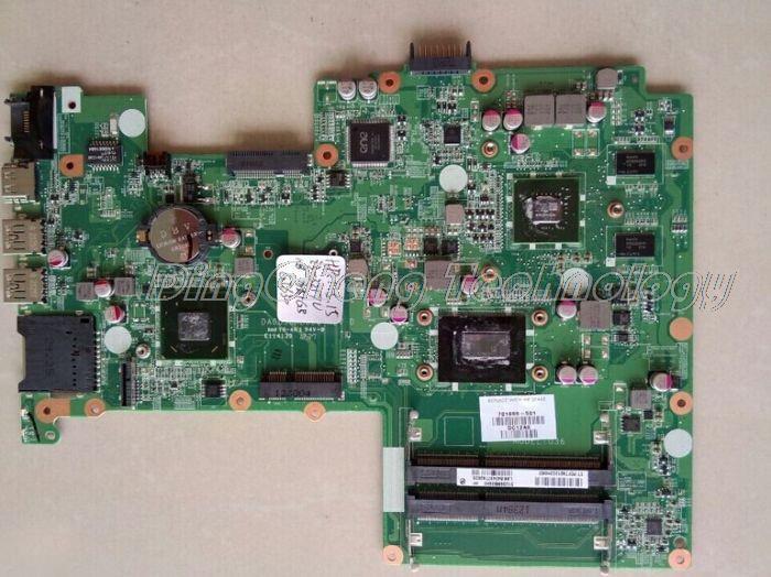 SHELI laptop Motherboard For hp pavilion 15 701699-501 HM77 DA0U36MB6D0 I3-3217U CPU 630M/1G non-integrated graphics card