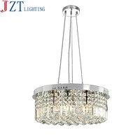 M Modern Simple Pendant Lustres E14 Bulb 7W 6 Circular K9 Crystal Light Fxiture Bedroom Dining