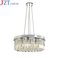 M Modern Simple Pendant Lustres E14 Bulb 7W 6 Circular K9 Crystal Light Fxiture Bedroom Dining