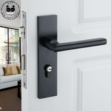 Locks Packages Solid Space Aluminum Key Door Continental Bedroom Minimalist Interior Handle Securit Lock Cylinder