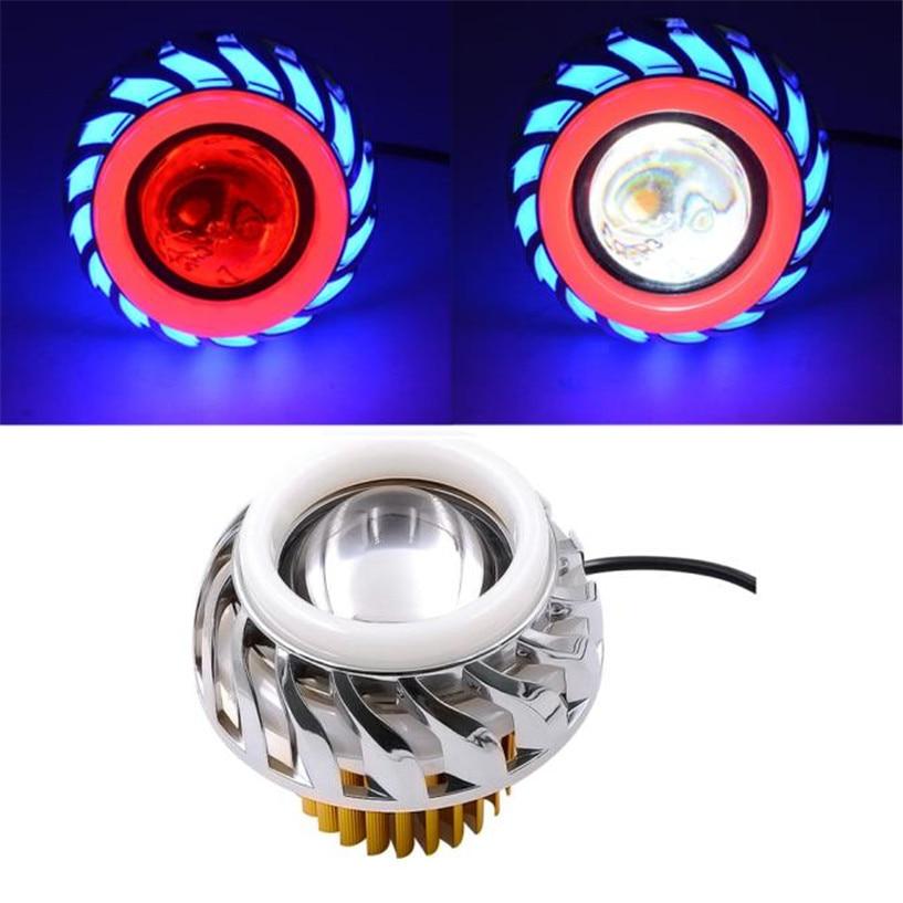 Highlow Beam Led Headlight For Motorcycle Angel Eyes-1128