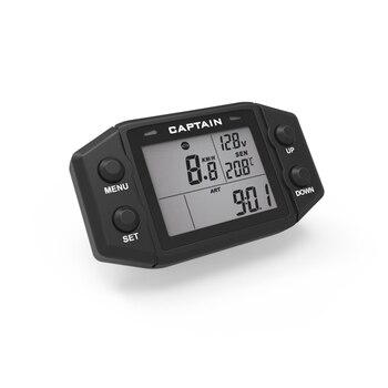 Multifunction Hour Meter Digital  Self Powered Engine tachometer Speed Meter with Voltmeter Service Reminder Gauge