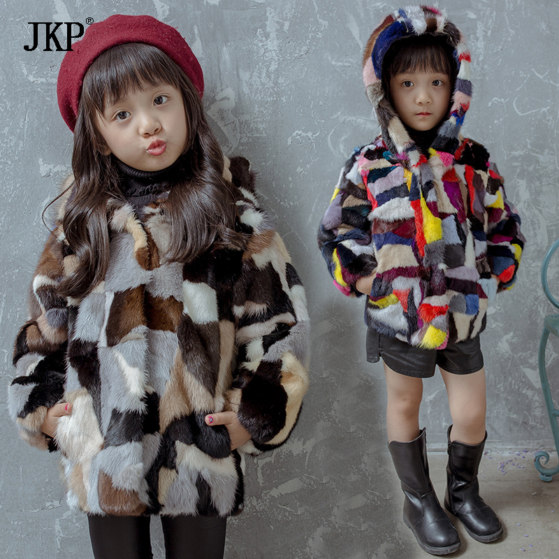 2018 Fashon Kids Colourful Natural Mink Fur Coat Children Autumn Winter Baby Girls Boy Warm Thick Fur coat Jacket children girl boy mink fur jacket coat kids real natural mink fur coat winter baby mink fur coat