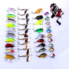 40 in 1 Fishing Lures Set Mixed Metal Spinner Hard Fly Fishing Baits Reel Artificial Pesca Fishing Tackle Equipment Accessory