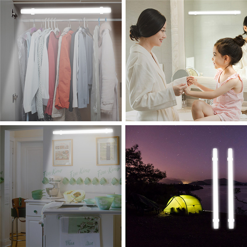 LED Hard Strip Light Bar Bright Rigid Bar USB Make-up Mirror Lighting Portable Indoor Lamp Emergency for Reading Schoolroom