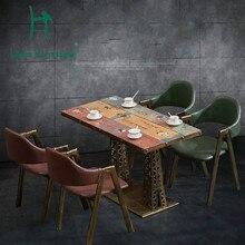 Луи моды кафе столы десерт магазин стол музыка Западный кофе промышленного ветер железа