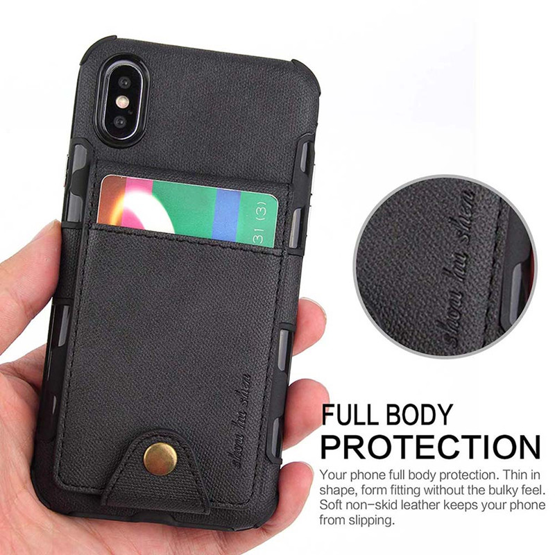 Retro PU Leather Case For iPhone XR XS MAX Multi Card
