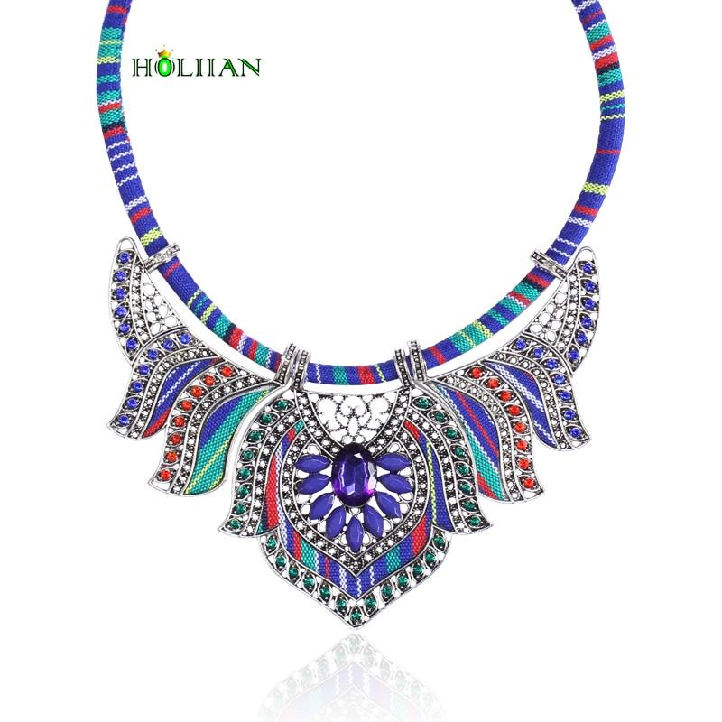 Women vintage choker pendants&necklaces boho necklaces ethnic bohemian jewellery statement tribal Marine bijoux femme mujer