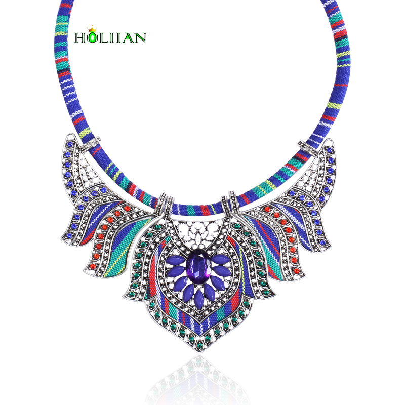 Women vintage choker pendants&necklaces boho necklaces ethnic bohemian jewellery statement tribal Marine bijoux femme mujer