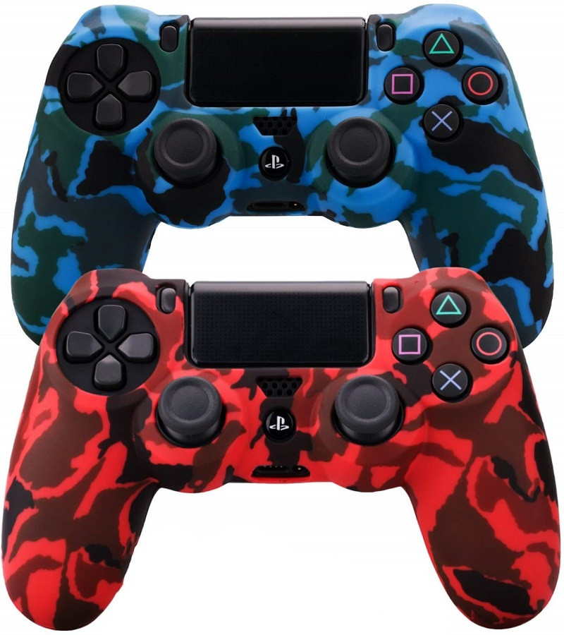 Silicone Controller Cover For PS4 Pro Slim Durable Camouflage Camo Accessories For Playstation 4 Skin Grips Cover Case Caps in Replacement Parts Accessories from Consumer Electronics