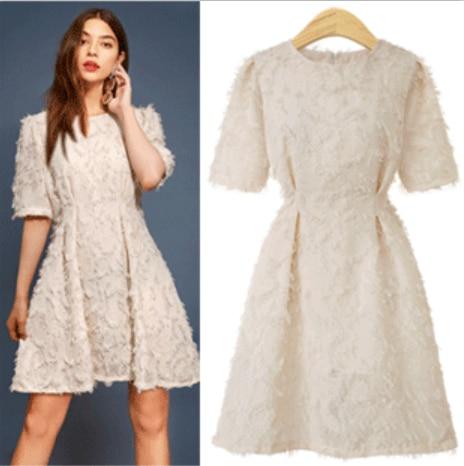 EBay speed vend à travers l'europe et les états-unis commerce extérieur pour recevoir un mot jupe taille col rond de robe dentelle dres