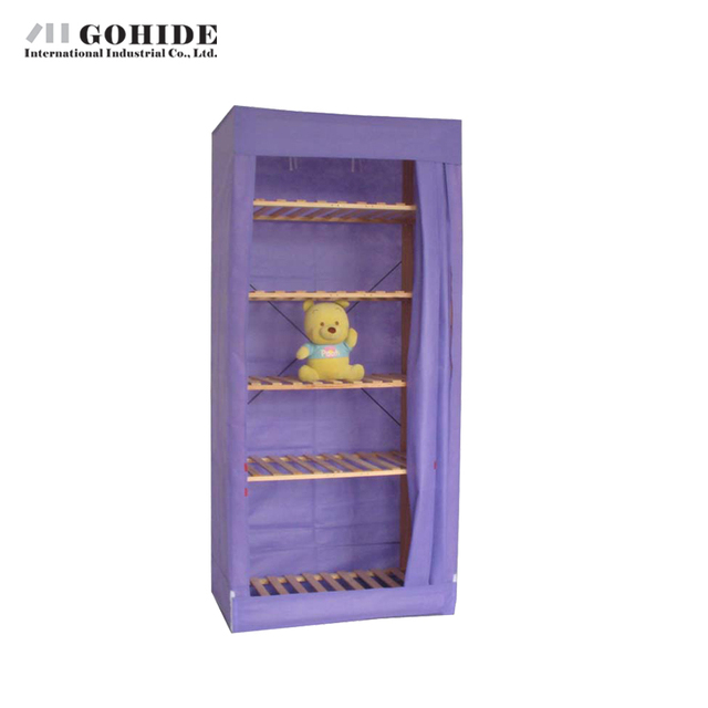 Gohide Savoring Home Cloth Wardrobe Cabinet Child Storage Wardrobe My15958bn Wardrobe Cabinets Simple Folding Reinforcement