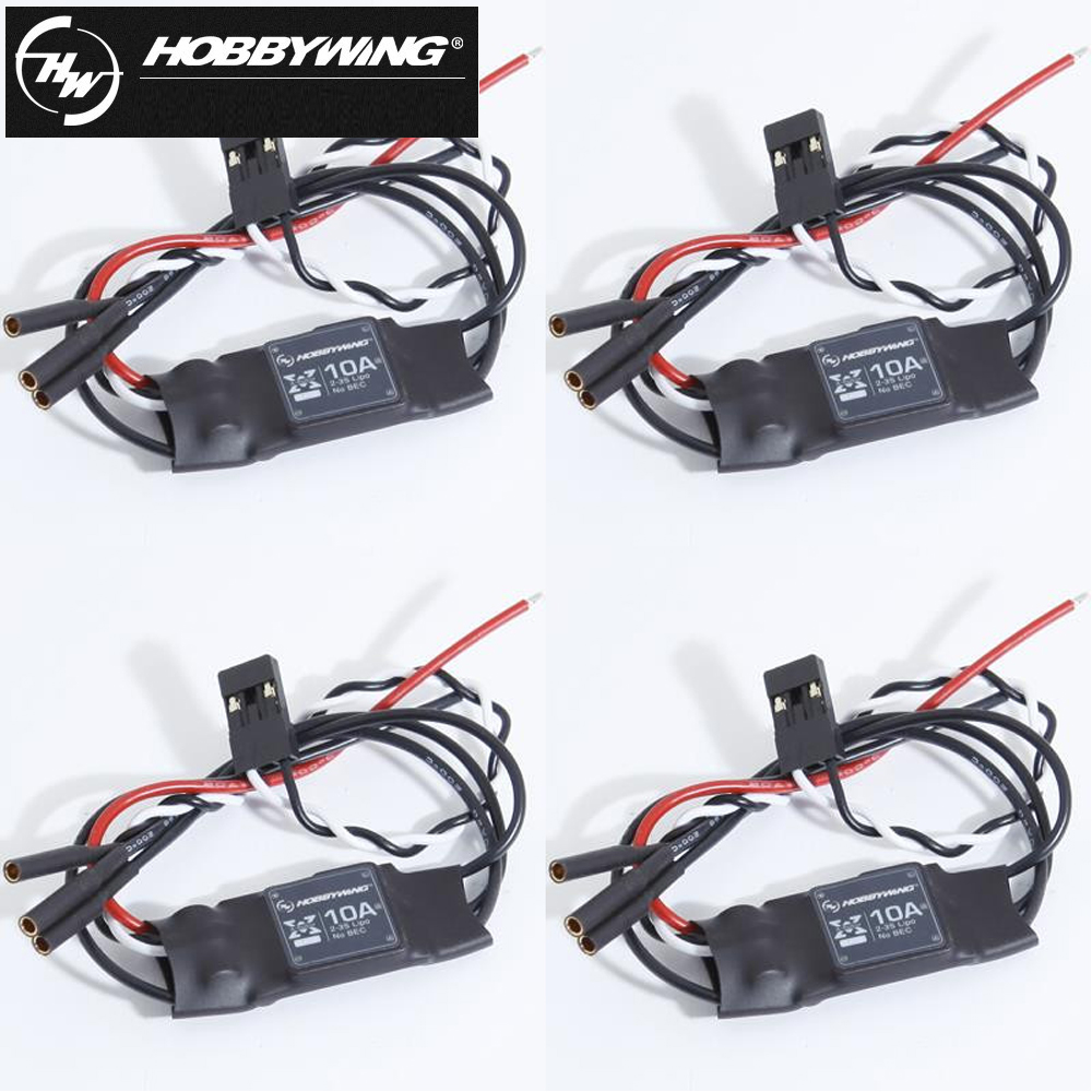 4pcs/lot 100% Hobbywing XRotor 10A 15A 20A 40A Brushless ESC 2-3S Speed Control for RC Quadcopter Multicopter QAV 250 цена
