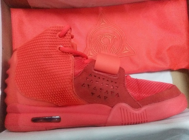 free shipping Mens Basketball Shoes Super Perfect Kanye West Yeezy ii 2 Red  October size 8-13 for sale cheap Trainers shoe 1755fcf1dddd