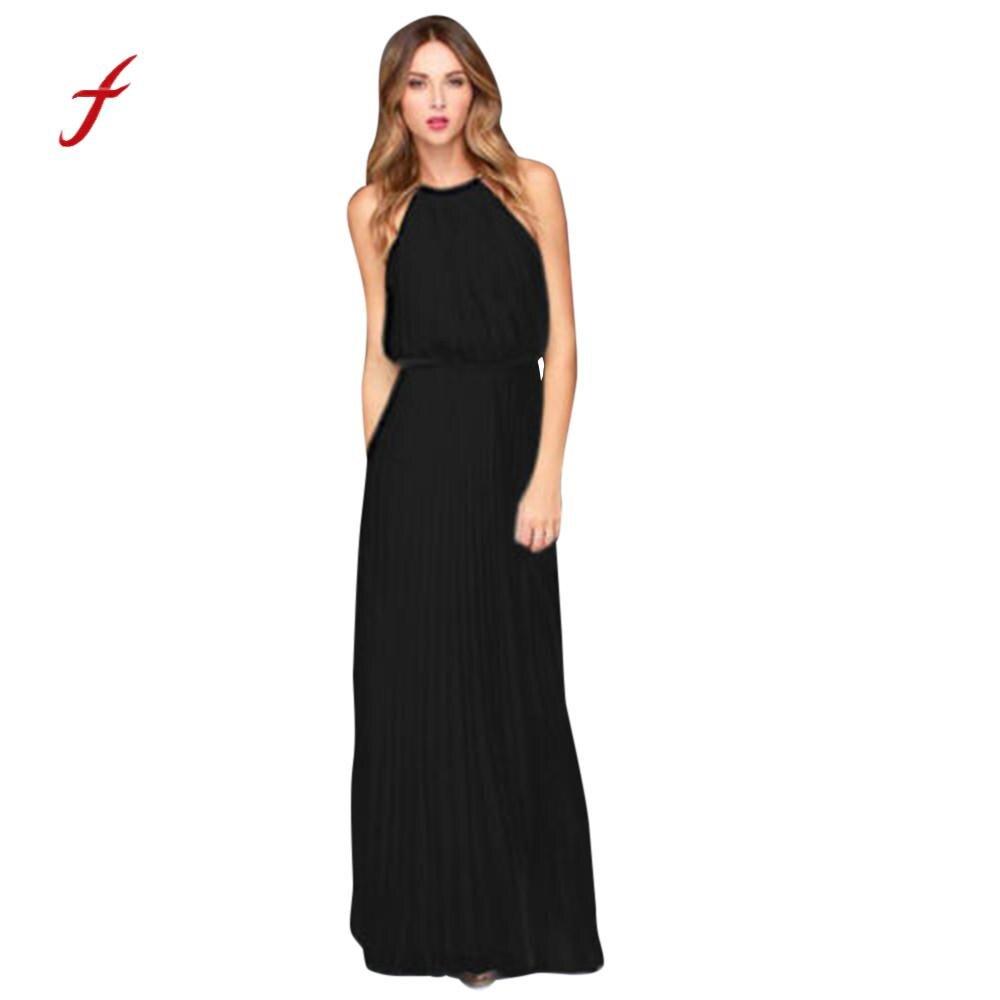 Chiffon Infinity Dress: Womens Formal Chiffon Sleeveless Prom Evening Party Female