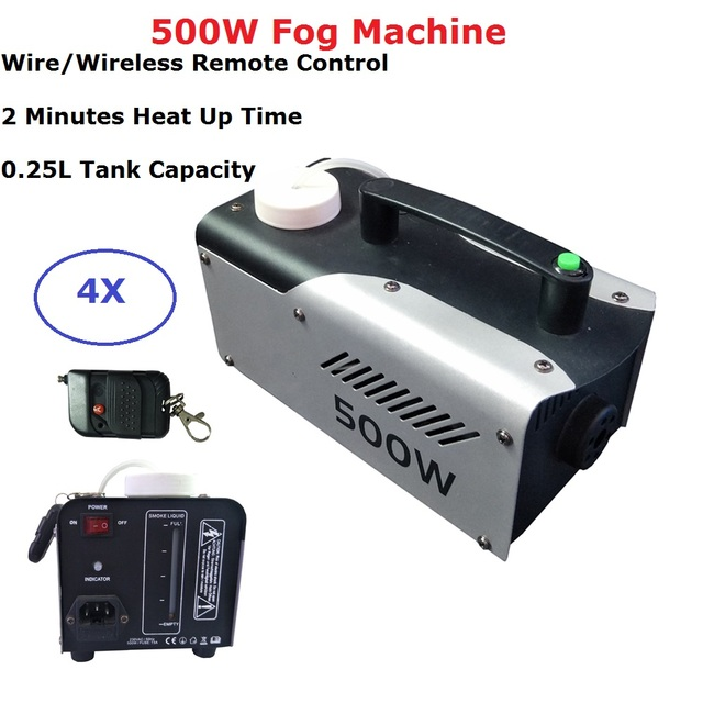 4Pcs Free Shipping 500W Fog Machine Dj Disco Stage Smoke Machine Perfect For Party Wedding Christmas Laser Shows LED Stage Light