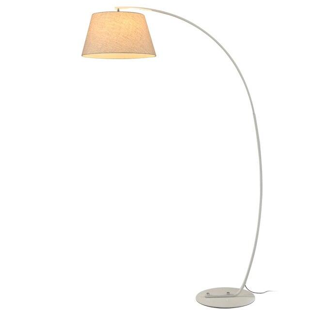 Nowoczesne Wędkarstwo Lampa Podłogowa Czarny Biały Abażur Twiggy
