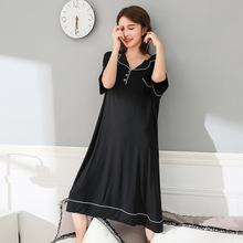 Modal Material Nightgown Plus Size 4xl-6xl  Indoor Clothing Home Dress 1068
