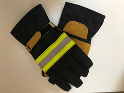 En659/en420/en407 padrão luvas de combate a incêndio usadas para bombeiro frete grátis