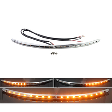 Motorcycle Flasher LED Windshield Trim Turn Signal Lights for Harley Davidson Touring Electra Street Tri Glide Ultra Limited