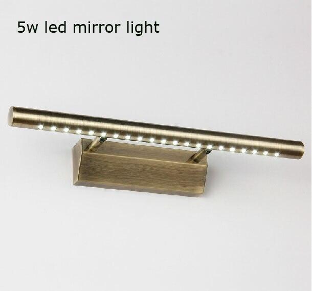 spedizione gratuita bronzato 5 w bagno specchio luce led ac85 265v smd5050 warmcool