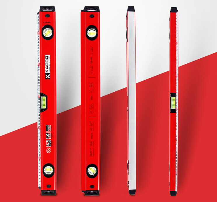 Free Delivery 40 (100cm)  Wall Grip Professional Box Beam Level along ruler With rubber End Caps 1000mm free delivery level 24 in lightweight hard plastic 3 bubble triple ruler measure tool