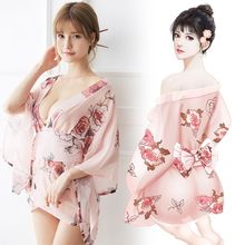 2019 New Hot Japan Style Sex Women Kimono 1 set Exotic Costumes Sakura Muti colors Mujer Pajama One size Sexy Shot Robe NY0268