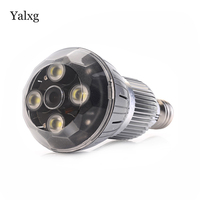 Yalxg New IP Mini Wifi Security Home Light Bulb Wireless Lamp Camera With 4PCS High Power