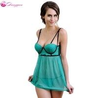 DangYan plus rozmiar sexy dorosłych porno babydoll piżamy sukienka z G-string lace bielizna erotyczna kostiumy sex produkt