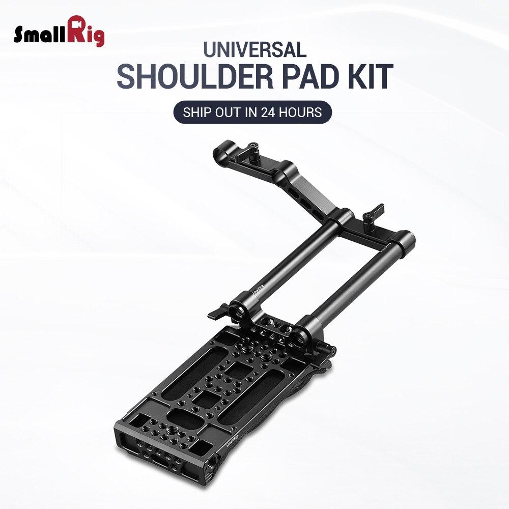 SmallRig DSLR Camera Shoulder Pad Rig with 15mm RailBlock Camera Shoulder Kit With Z Shape Rod