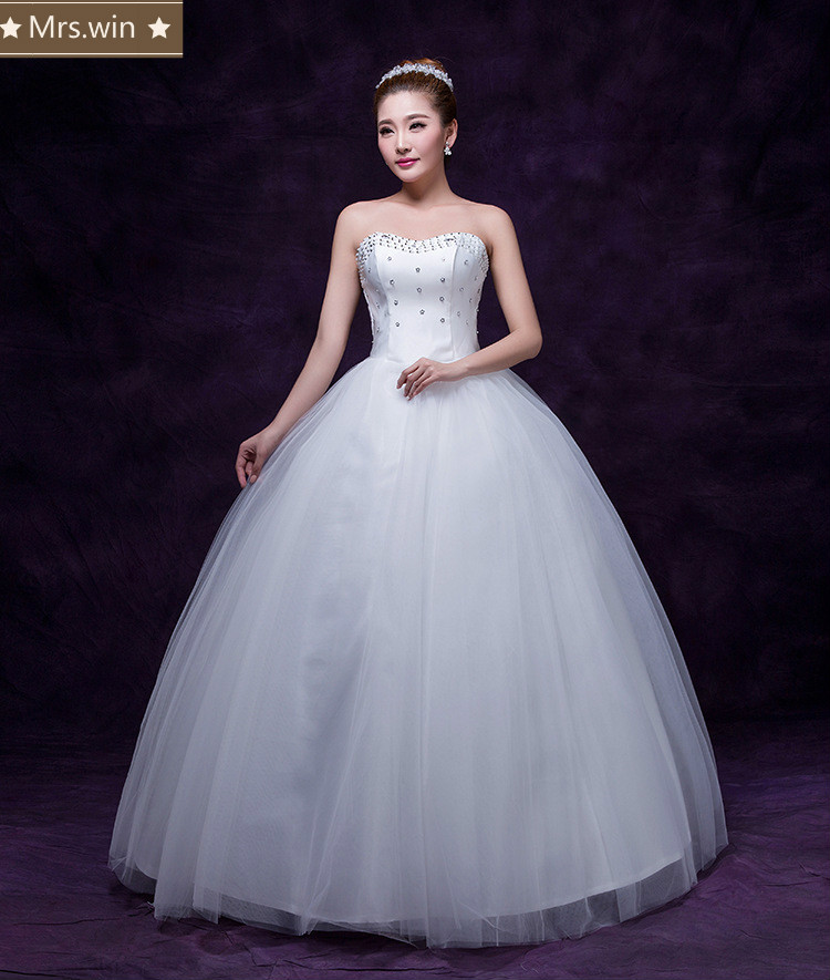 Wedding Gowns In China: WM0104 Cheap Price High Quality Luxury Puffy Sweetheart