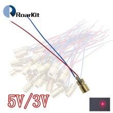 1 шт. лазерные диоды 5 мВт 650 нм диоды RED Dot Лазерная Диодная схема 3 В/5 В 5 мВт 650 нм модуль указка прицел Медная головка
