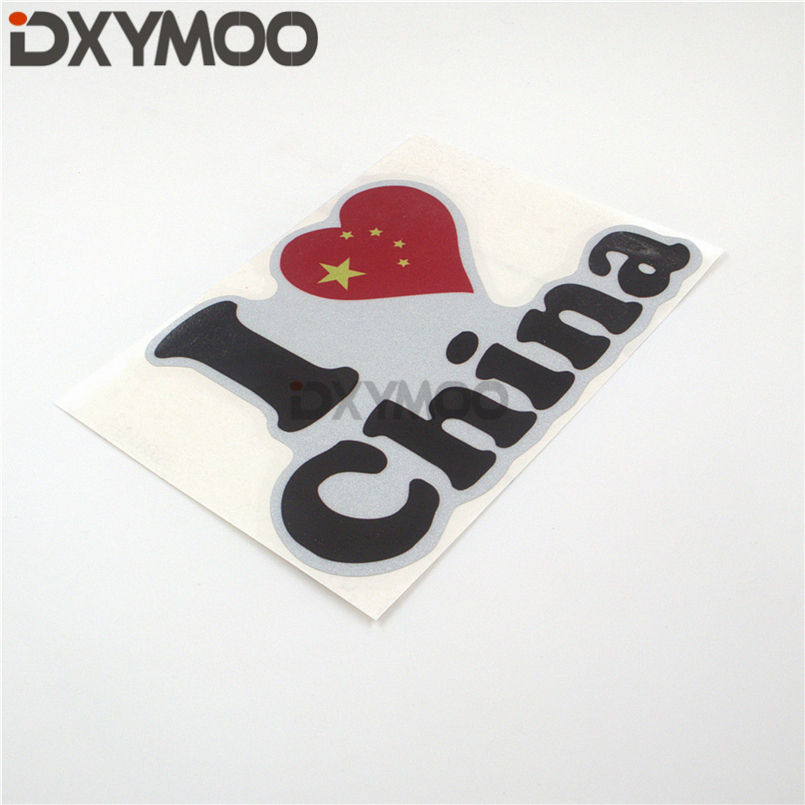 I LOVE CHINA Motorcycle Bike Helmet Decorate Stickers Automobile Car Styling Decal Reflective