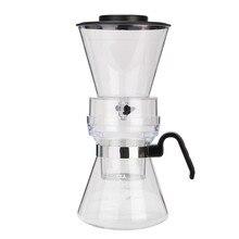 600 ml durable schwarz abdeckung kunststoff pps zeitgenössische design kalten drip dutch kaffeemaschine 1-4 tassen haushaltsgeräte