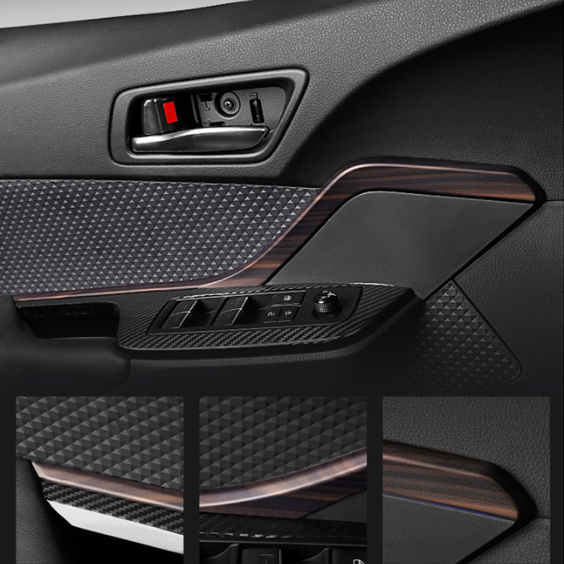 Foal Burning 4 Pcs ABS Car Inner Door Handle Strip Decoration Frame Cover Trim ABS Fit For Toyota C-HR CHR 2016 2017 2018 2019