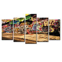 5 panel Frame Graffiti poster canvas wall painting art home decoration living room printing modern painting/Abstract-43