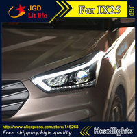 Бесплатная доставка! Автомобильный Стайлинг светодиодный HID Rio светодиодный фары передняя фара чехол для hyundai IX25 Биксеноновые линзы ближнег