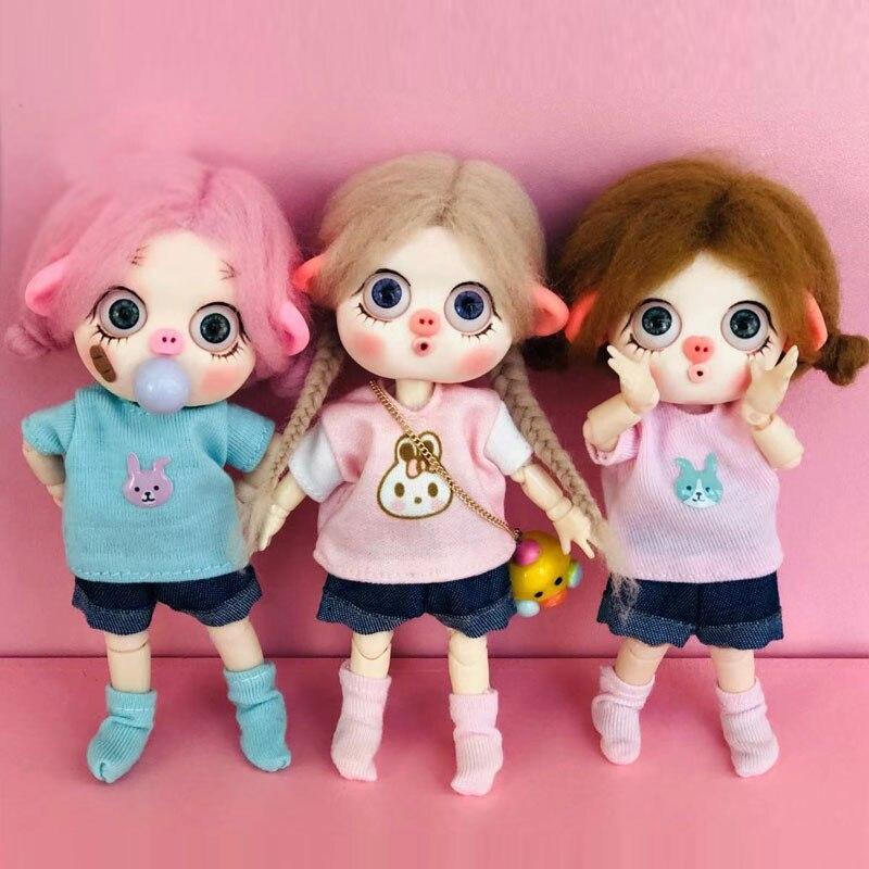 PCS Mini Clothing Summer Casual Stripe T-shirts For OB11 BJD 1/12 Obitsu 11 Doll Clothes Accessories