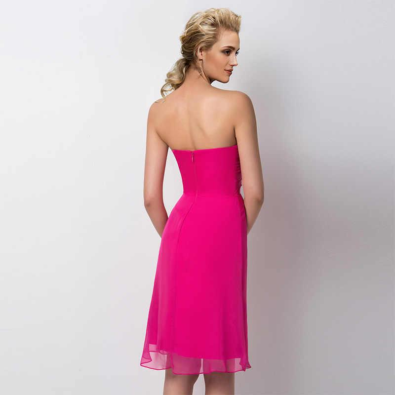 bf368136b2d ... Tanpell без бретелек нарядное платье цвета фуксии без рукавов до колен  оболочка платье Леди Свадебная вечеринка ...