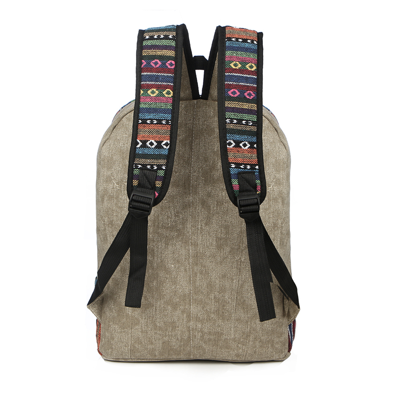 Vintage School Backpack Women Schoolbags For Teenager Girls Canvas Backpacks Student Book Bag National Mochila Bolsas De Saco #3