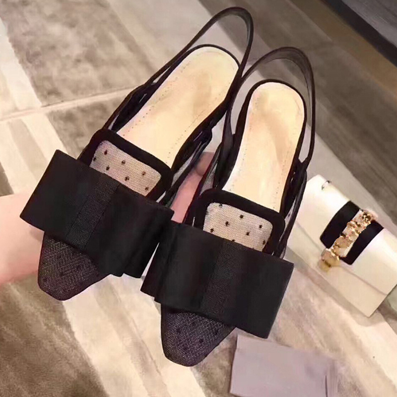 Woman Sandals Bow Tie Embellished Sexy Lace Shoes Pointed Toe Slip On Woman Flats Slingback Brand Super Star Wedding Party Shoes hot woman flats metal animal decor woman shoes pearl embellished woman loafers bow tie women shoes brand runway super star shoes