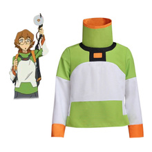Anime Voltron: Legendary Defender Pidge Cosplay T Shirt Costume Top Long Sleeve Jacket For Halloween Custom Made