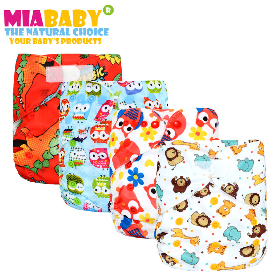 Miababy(5pcs/lot) Big XL Pocket Cloth Diaper For Baby 2 Years And Older, Sday-dry Inner,adjustable Size, Fits Waist 36-58cm