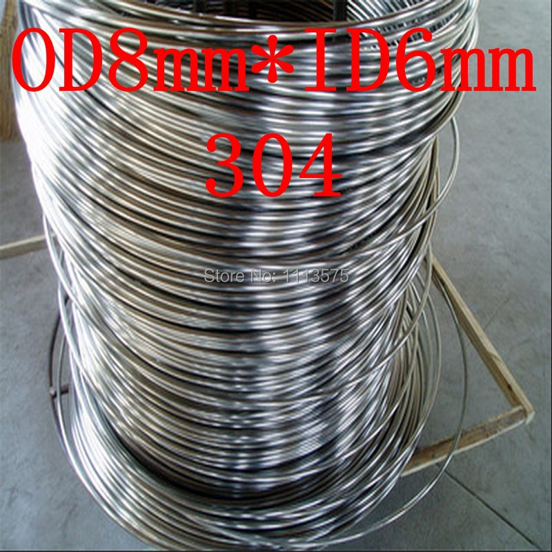 OD8mm*ID6mm,authentic 304 food grade stainless steel coiled capillary tube,coil tubing,precision pipe pipeline