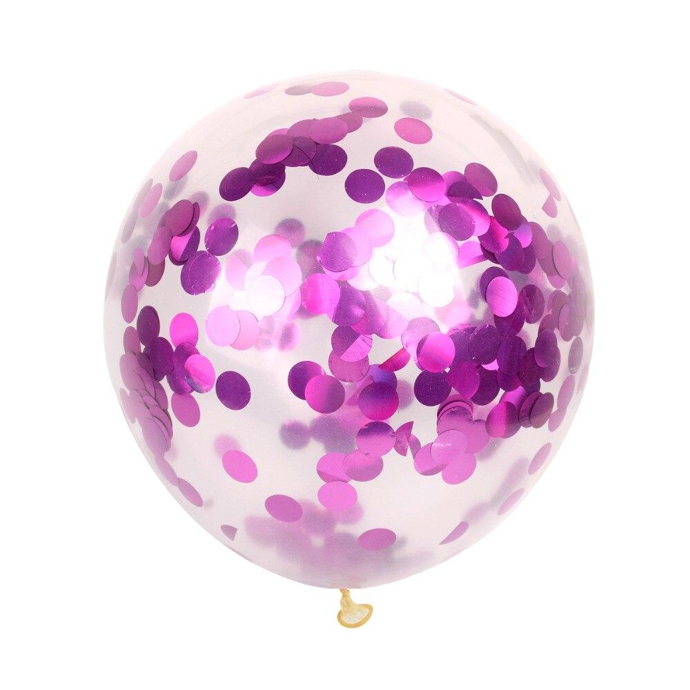 QIFU 10st 12-tals konfetti Ballong Rose Guld Latex Ballonger - Semester och fester - Foto 4