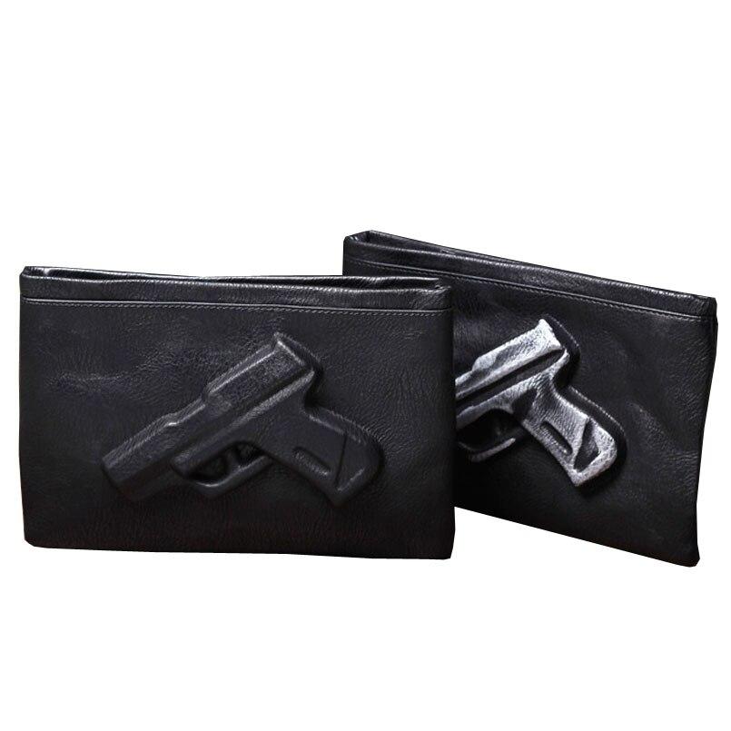 fdd0e585d1 Frizione giorno personalità violenta pistola sacchetto 3D pistola borse e  borsa crossbody bag in pelle PU per giovane maschio femmina in Frizione  giorno ...