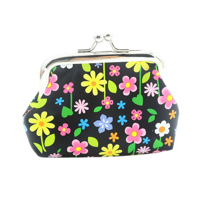 Brand New women coin purse flower lady change purse retro vintage coin wallet Lady money bag wallet Hasp Purse carteras mujer 12