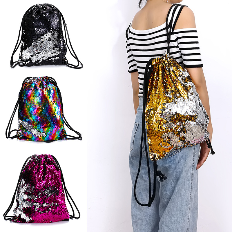 Women Travel Backpack String Sequins Color Change Girls Backpack Ladies  Bagpack Beach Bag-in Backpacks from Luggage & Bags on Aliexpress.com |  Alibaba Group