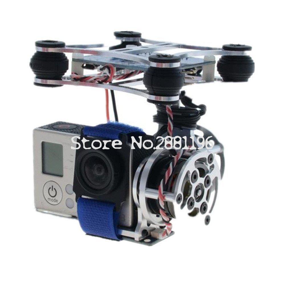 Wholesale 1pcs Super Light Brushless Gimbal Camera Frame + 2 Motors +Controller 160G For Phantom Gopro 3 4 professional drone parts brushless gimbal frame 2 motors controller for dji phantom fpv gopro 4 3 3 6a30 drop shipping